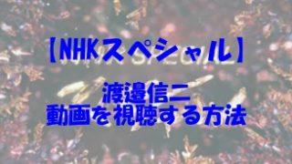 NHKスペシャル 渡邉信二 動画