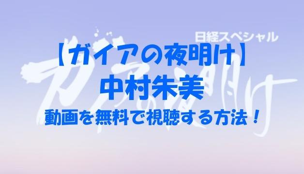ガイアの夜明け 中村朱美 動画