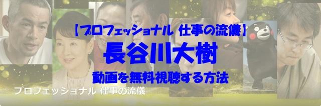 プロフェッショナル 仕事の流儀 長谷川大樹 動画