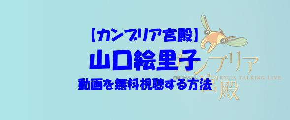 カンブリア宮殿 山口絵里子 動画