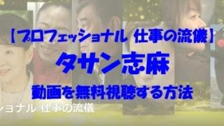 プロフェッショナル 仕事の流儀 タサン志麻動画