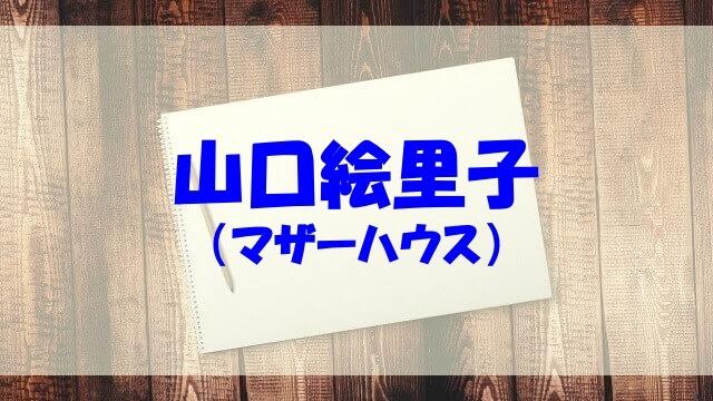 山口絵里子 経歴 wiki 結婚 旦那子供 年収