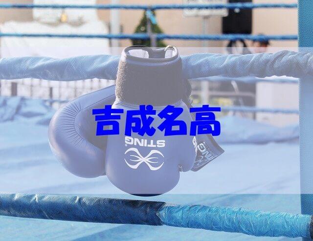 吉成名高 イケメン 身長 経歴 彼女 家族 高校